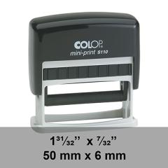 étampe Colop Mini Printer S110 sur mesure dim