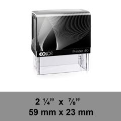 étampe Colop Printer 40 sur mesure dim