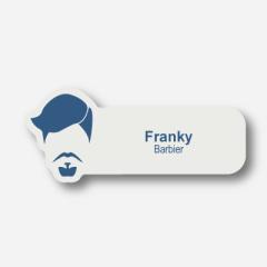 Illustration Name tag - Plastic - Custom shape - Barber - Inspiration 121