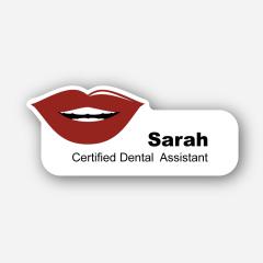 Illustration Name tag - Metal - Custom shape - dentist - Inspiration 162