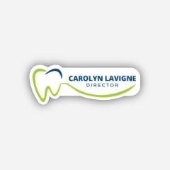 Illustration Name tag - Metal - Custom shape - dentist - Inspiration 192