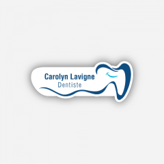 Illustration Name tag - Metal - Custom shape - dentist - Inspiration 199