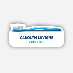 Illustration Name tag - Metal - Custom shape - dentist - Inspiration 210