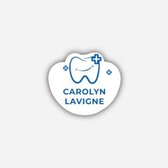 Illustration Name tag - Plastic - Custom shape - dentist - Inspiration 250
