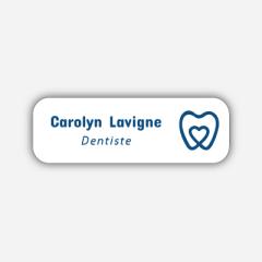 Illustration Name tag - Plastic - Standard shape - dentist - Inspiration 251
