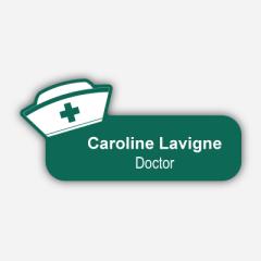 Illustratiuon Name tag - Plastic - Custom shape - Doctor - Inspiration 130