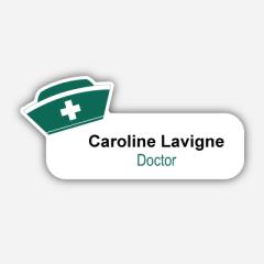 Illustration Name tag - Metal - Custom shape - Doctor - Inspiration 131