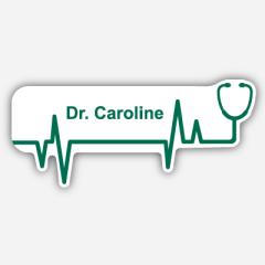 Illustration Name tag - Metal - Custom shape - Doctor - Inspiration 166