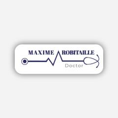 Illustration : Name tag - Metal - Standard shape - Doctors & nurses - Inspiration 269