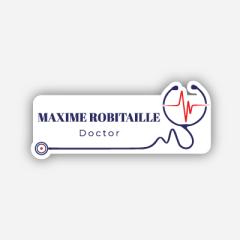Illustration : Name tag - Metal - Custom shape - Doctors & nurses - Inspiration 270