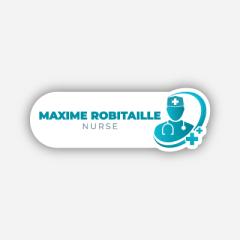 Illustration : Name tag - Metal - Custom shape - Doctors & nurses - Inspiration 275