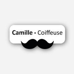 Illustration Name tag - Metal - Custom shape - Hairdresser - Inspiration 119