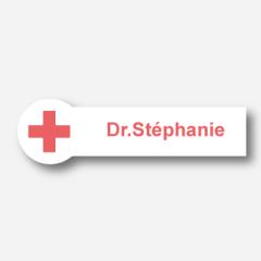 Illustration Name tag - Metal - Custom shape - Medical - Inspiration 128