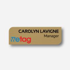 Name tag - Metal - Custom shape - Inspiration 108