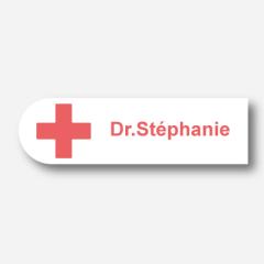 Illustration Name tag - Metal - Custom shape - Medical - Inspiration 129