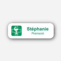 Illustration Name tag - Metal - Standard shape - Pharmacists - Inspiration 167