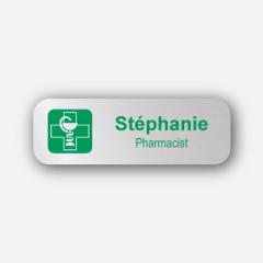 Illustration Name tag - Metal - Standard shape - Pharmacists - Inspiration 169