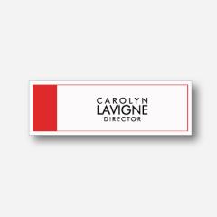 Illustration Name tag - Metal - Standard shape- Inspiration 183