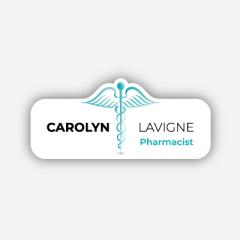 Illustration : Name tag - Metal - Custom shape - Pharmacists - Inspiration 276