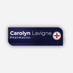 Illustration : Name tag - Metal - Custom shape - Pharmacists - Inspiration 277