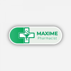 Illustration : Name tag - Metal - Custom shape - Pharmacists - Inspiration 280