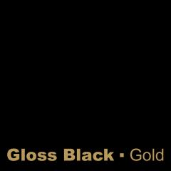 Plastic Gloss Black engraved Gold Wetag
