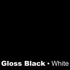 Plastic Gloss Black engraved White Wetag