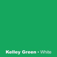 Plastic Kelly Green engraved White Wetag