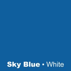 Plastic Sky Blue engraved white Wetag