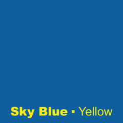 Plastic Sky Blue engraved Yellow Wetag