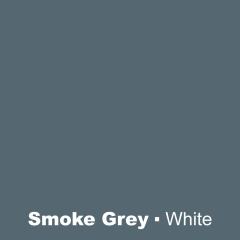 Plastic Smoke Grey engraved White Wetag