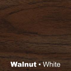 Plastic Walnut engraved white Wetag