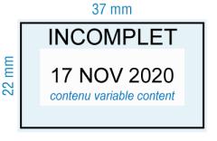 étampe personnalisée dateur - Incomplet avec cadre - inspiration 2005