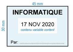 étampe personnalisée dateur - Informatique par - inspiration 2008