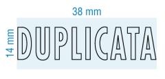 Étampe personnalisée - DUPLICATA - stock 2043