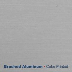 """plaque signalétique - aluminium imprimé - Argent  0.5mm - 0.02"""""""