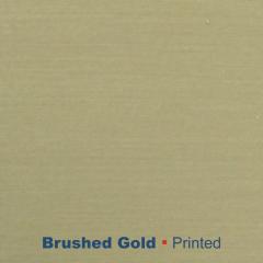 metal printed brushed Gold Wetag