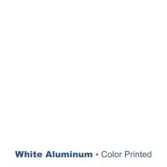 """plaque signalétique - aluminium imprimé - Blanc 0.5mm - 0.02"""""""