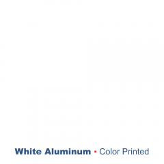 """plaque signalétique - aluminium imprimé - Blanc 1.0 mm - 0.04"""""""