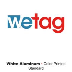metal printed white aluminum Wetag