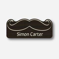 Illustration Name tag - Metal - Custom shape - Barber - Inspiration 100