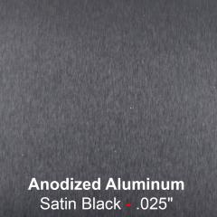 """plaque signalétique - aluminium anodisé gravé - Satin Noir 0.025"""" -0.63mm"""