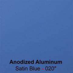 "plaque signalétique - aluminium anodisé gravé - Satin Bleu -0.020""- 0.5mm"