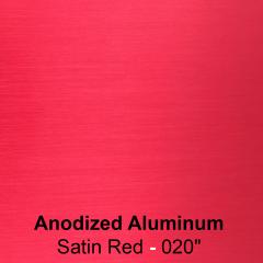 """plaque signalétique - aluminium anodisé gravé - Satin Rouge -0.020""""- 0.5 mm"""