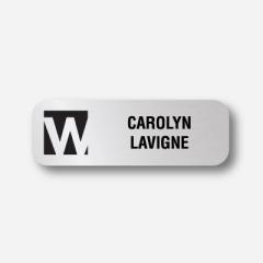 Illustration Name tag - Plastic - Standard shape - Inspiration 104