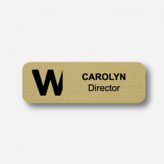 Illustration Name tag - Plastic - Standard shape - Inspiration 105