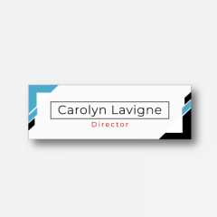 Illustration Name tag - Metal - Standard shape - Inspiration 186