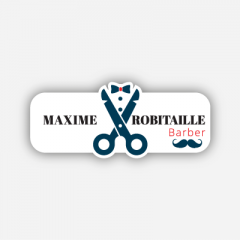 Illustration - Name tag - Metal - Custom shape - Hairdressers & Barbers - Inspiration 260
