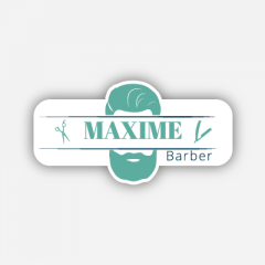 Illustration : Name tag - Metal - Custom shape - Hairdressers & Barbers - Inspiration 262