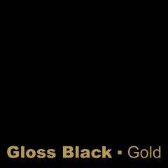 Gloss Noir engraved Gold